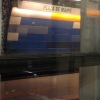 Photo taken at Metro Plaza de Maipú by Florencia S. on 11/8/2012