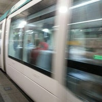 Photo taken at Tram T1/T2 Cornellà Centre by Paolo P. on 7/11/2013