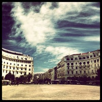 Photo taken at Aristotelous Square by Nicolas H. on 3/12/2013