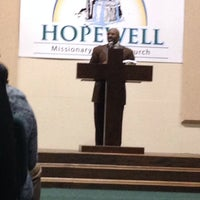 Photo taken at Hopewell Missionary Baptist Church by Felicia D. on 11/3/2013