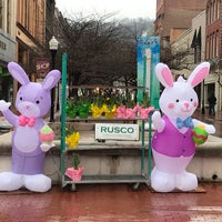 Photo taken at Downtown Cumberland Walking Mall by Steven M. on 3/28/2018