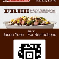 Photo taken at Chipotle Mexican Grill by Jason Y. on 2/10/2016