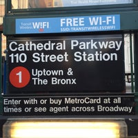 Photo taken at MTA Subway - Cathedral Pkwy/110th St (1) by Larry on 5/12/2016