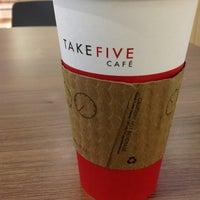 Photo taken at Take Five Cafe Richmond Centre by Francis S. on 11/6/2012