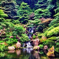 Photo taken at Portland Japanese Garden by Minh T. on 6/7/2013