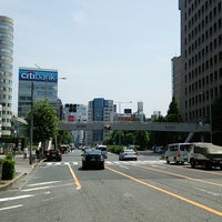 Photo taken at 青山通り (青山学院前) by 芳雄 大. on 7/17/2014