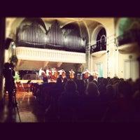Photo taken at Sala Filarmonica Vincenzo Gianferrari by Arianna F. on 10/11/2012