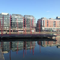 Photo taken at Grand Canal Dock by Lena on 2/25/2013