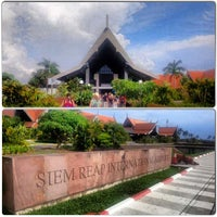 Photo taken at Siem Reap International Airport (REP) by Brandwhorejeffy :. on 5/9/2013