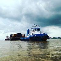 Photo taken at Pelabuhan Boom Baru Palembang by Mohammed M. on 9/7/2016