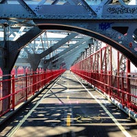 Photo taken at Williamsburg Bridge Pedestrian & Bike Path by Rodolfo D. on 5/21/2013