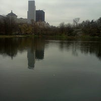 Photo taken at Harlem Meer by Juan S. on 4/11/2013