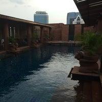 Photo taken at Crowne Plaza Swimming Pool by Dimitris L. on 4/5/2014