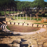 Photo taken at Teatro Ostia Antica by Roland M. on 12/4/2013