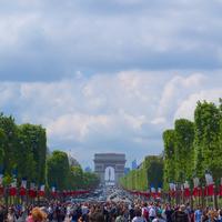 Photo taken at Avenue des Champs-Élysées by MikaelDorian on 8/18/2014