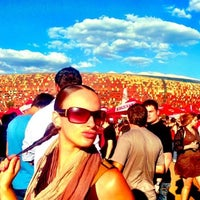 Photo taken at FNB Stadium by Susan B. on 2/2/2013