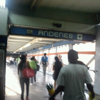 Photo taken at Metro Viaducto (Línea 2) by Rosa on 10/16/2012