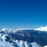 Photo taken at Rosa Khutor Ski Resort by Olga K. on 3/30/2013