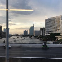 Photo taken at King Taksin Bridge by iBallUD on 4/19/2017