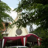 Photo taken at Gereja Santa Theresia by Tomek C. on 7/5/2013