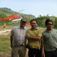 Photo taken at Helipad Red Island by Larry D. on 1/11/2013