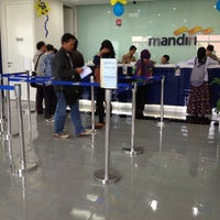 Photo taken at Bank Mandiri by Rio A. on 10/5/2012