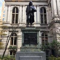 Photo taken at Benjamin Franklin Statue by Borislava P. on 12/1/2016