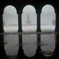 Photo taken at Bethesda Fountain by Eliane v. on 2/9/2013