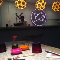 Photo taken at Origami Sushi Bar by Raya B. on 12/13/2012