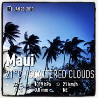 Photo taken at Maui Canoe Club by Andrea P. on 1/20/2013
