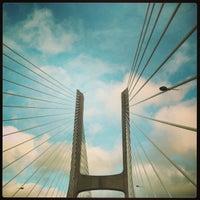 Photo taken at Ponte Vasco da Gama by Vinod C. on 2/1/2013