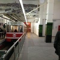 Photo taken at Tünel Tramvay Durağı by Hakan B. on 2/6/2013