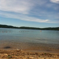 Photo taken at Waukewan Beach by Brittany P. on 8/24/2013
