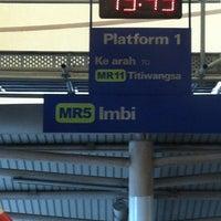 Photo taken at RapidKL Imbi (MR5) Monorail Station by JJay043 on 10/28/2012