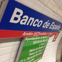Photo taken at Metro Banco de España by JJay043 on 3/22/2014