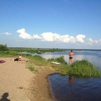 Photo taken at Пляж «Северный» by Olka V. on 7/4/2013