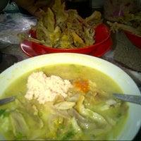 Photo taken at Soto Ayam Lamongan Cak Har by neny r. on 12/23/2012