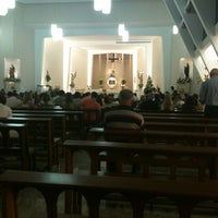 Photo taken at Paróquia Santa Mônica by Maria Eliane B. on 12/25/2012
