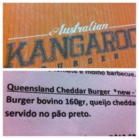 Photo taken at Kangaroo Australian Burger by João Luiz G. on 8/21/2013
