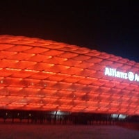 Photo taken at Allianz Arena by Mikhail T. on 2/25/2013