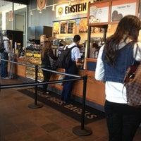 Photo taken at Einstein Bros Bagels by Niki N. on 2/14/2013