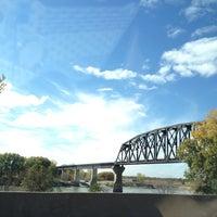 Photo taken at South Sioux City Train Bridge by Sara B. on 10/4/2012