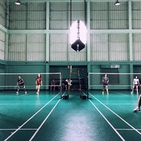 Photo taken at Tobacco Badminton Court by Palm C. on 2/11/2017