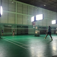 Photo taken at Tobacco Badminton Court by Palm C. on 10/12/2017