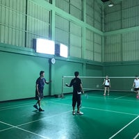 Photo taken at Tobacco Badminton Court by Palm C. on 3/23/2017