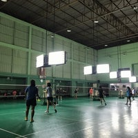 Photo taken at Tobacco Badminton Court by Palm C. on 3/9/2017