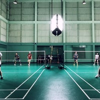 Photo taken at Tobacco Badminton Court by Palm C. on 2/9/2017