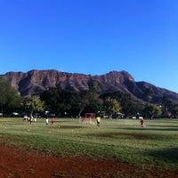 Photo taken at Kapiolani Regional Park by Yoshifumi Y. on 1/8/2013