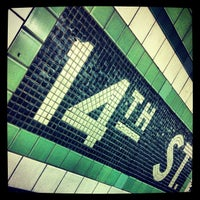 Photo taken at MTA Subway - 14th St (F/L/M) by Michael A. on 8/6/2013
