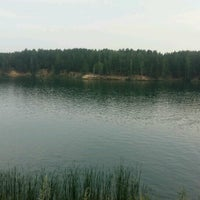 Photo taken at Голубой карьер by Mihail A. on 8/4/2016